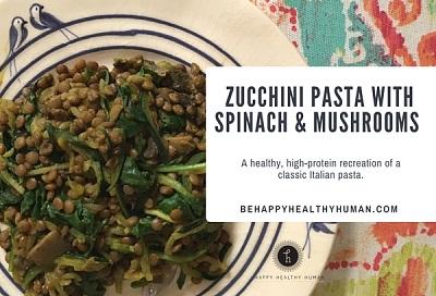 healthy spinach pasta spiralizer recipe photo