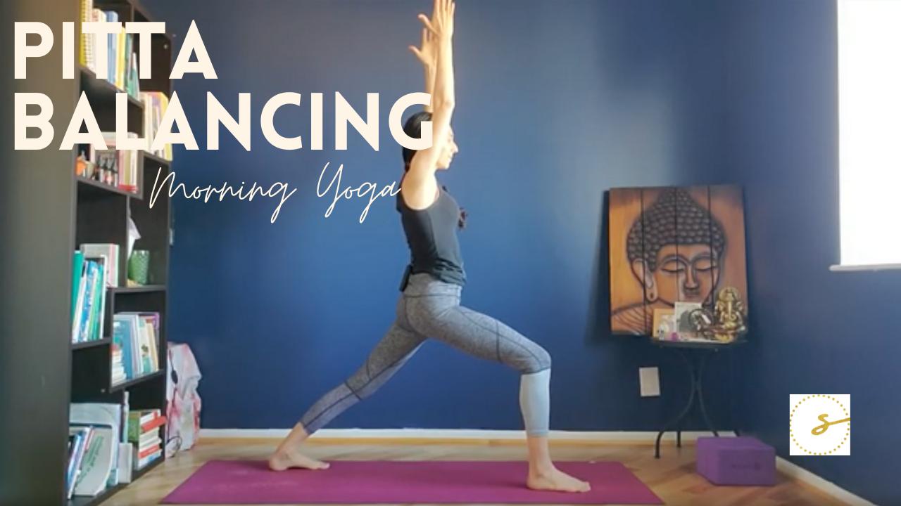 pitta balancing morning yoga photo